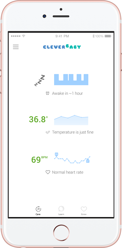 Clever Baby - First Baby Monitor that tracks Development, Health and